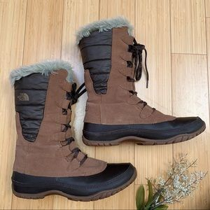 The NORTH FACE Shellista winter snow boots, 9, 40.